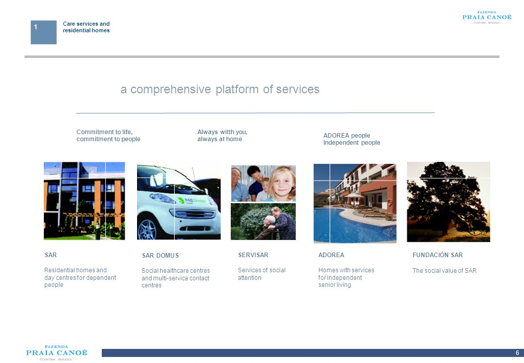 a comprehensive platform of services
