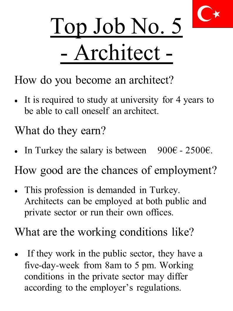 Top Job No. 5 - Architect - How do you become an architect