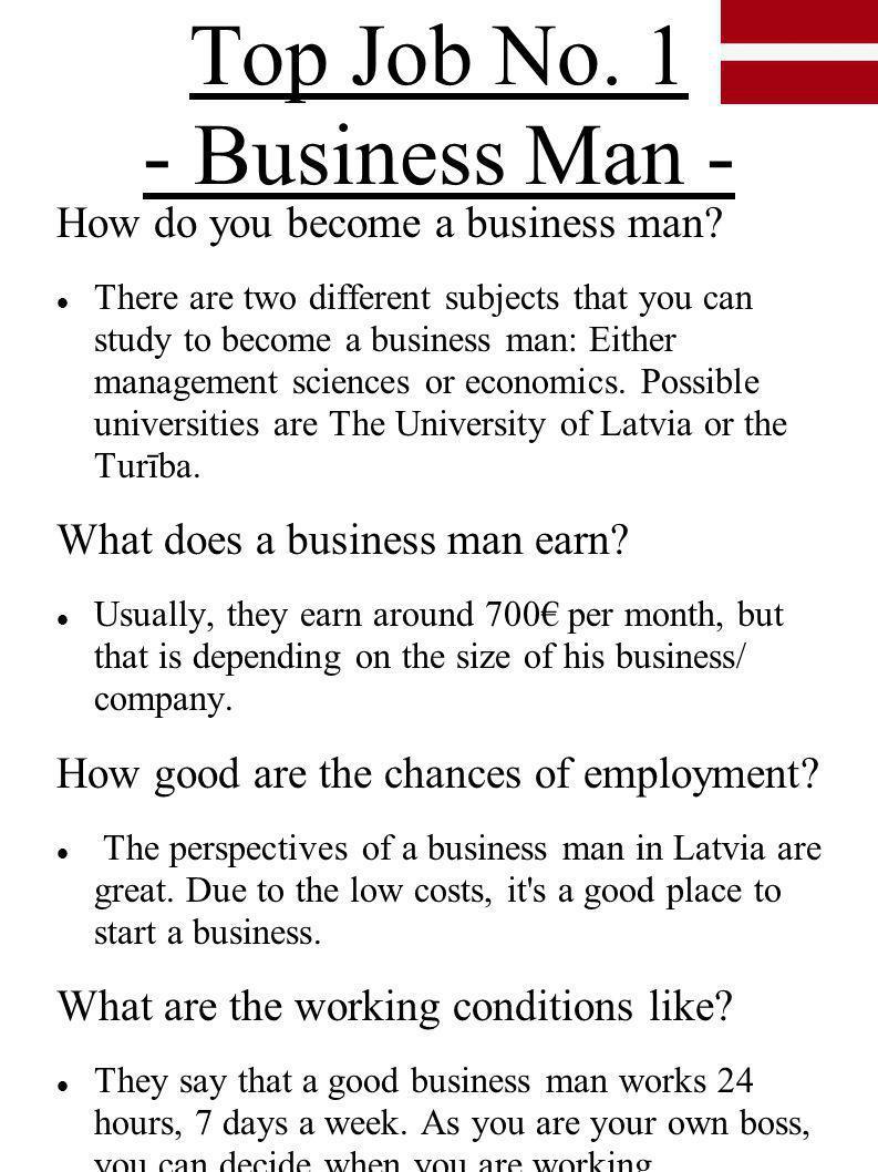 Top Job No. 1 - Business Man -