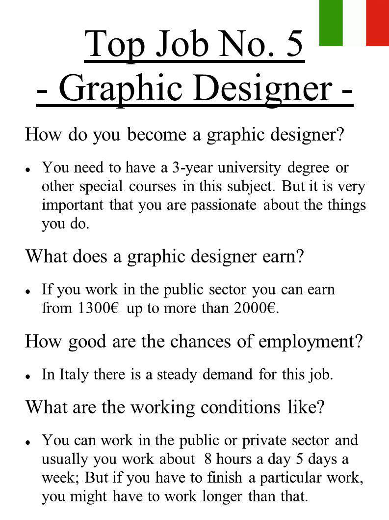 Top Job No. 5 - Graphic Designer -