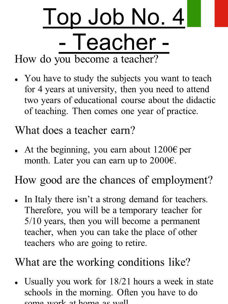 teacher essays for employment Do ask a teacher or parent to proofread your essay to catch mistakes you should also i plan to get a summer job from that day on, daniel was.