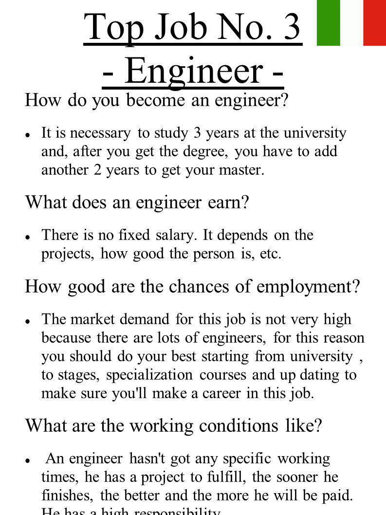 Top Job No. 3 - Engineer - How do you become an engineer