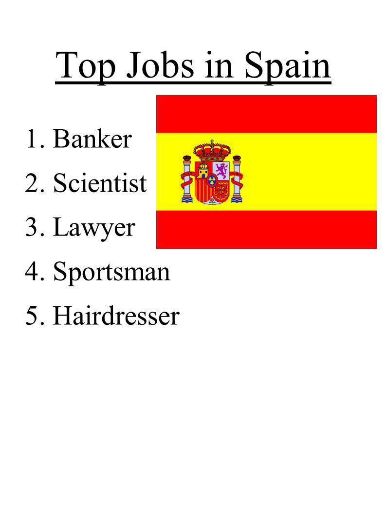 Top Jobs in Spain Banker Scientist Lawyer Sportsman Hairdresser