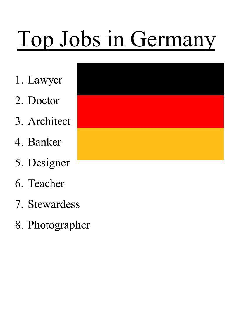Top Jobs in Germany Lawyer Doctor Architect Banker Designer Teacher