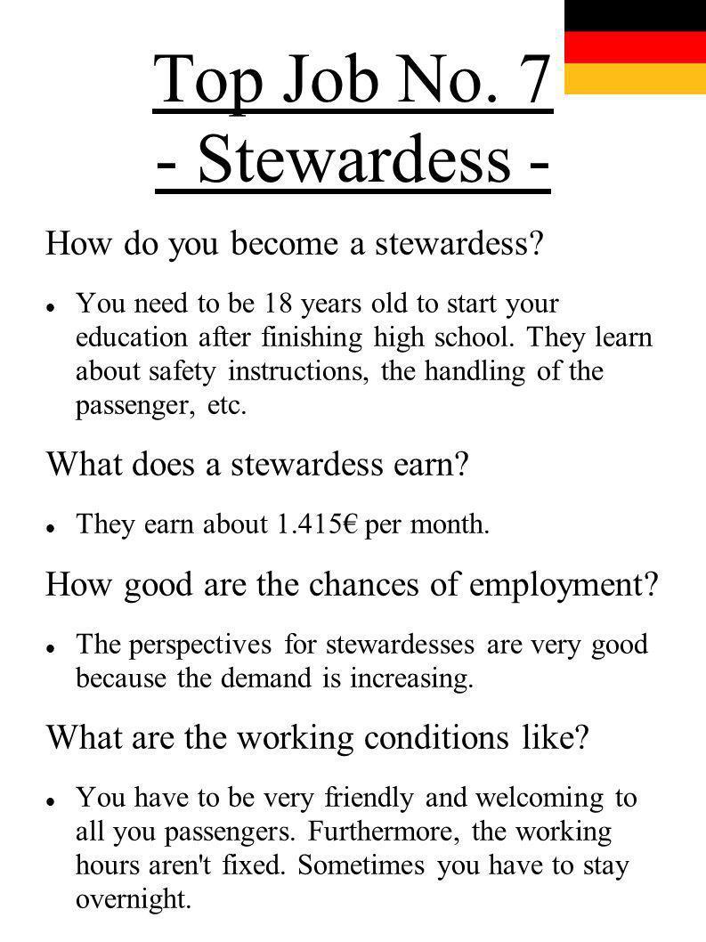 Top Job No. 7 - Stewardess -