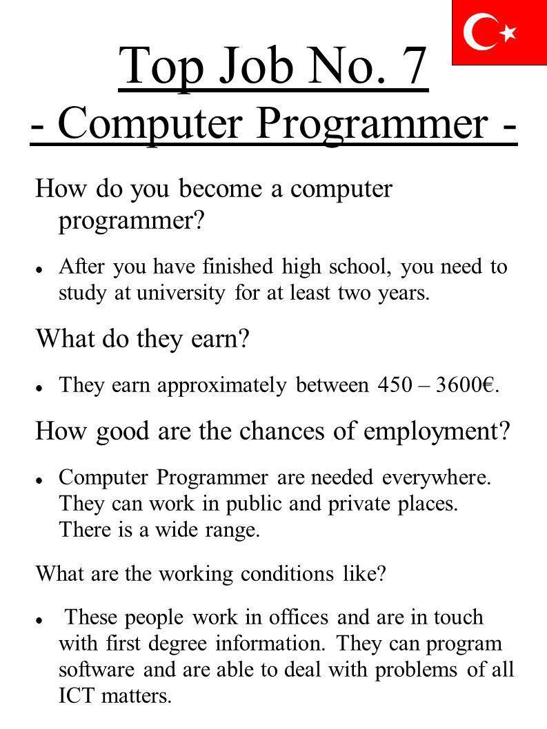 Top Job No. 7 - Computer Programmer -