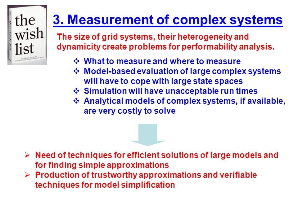 3. Measurement of complex systems