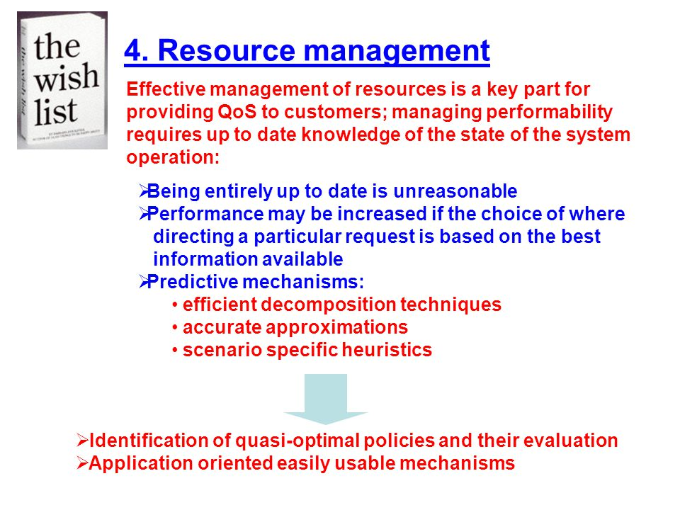 4. Resource management