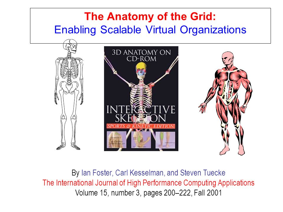 The Anatomy of the Grid: Enabling Scalable Virtual Organizations
