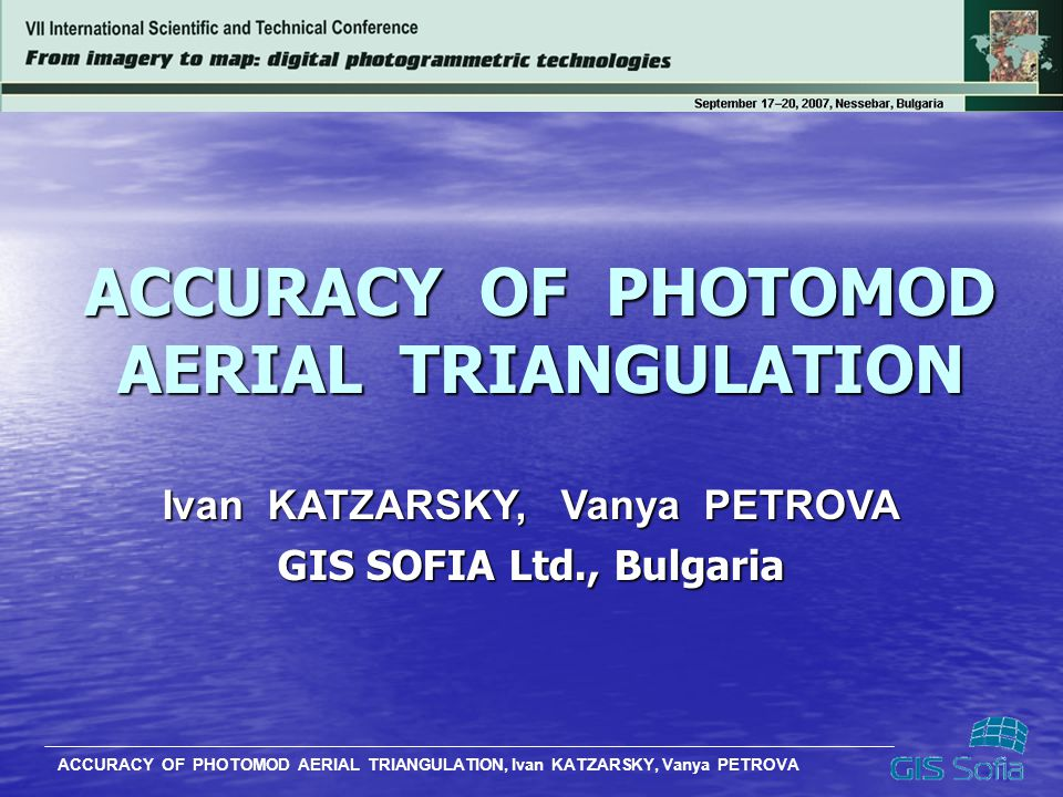 ACCURACY OF PHOTOMOD AERIAL TRIANGULATION