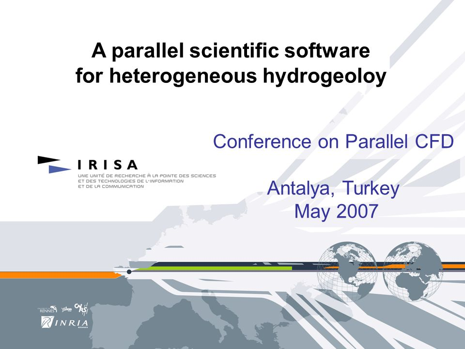 A parallel scientific software for heterogeneous hydrogeoloy