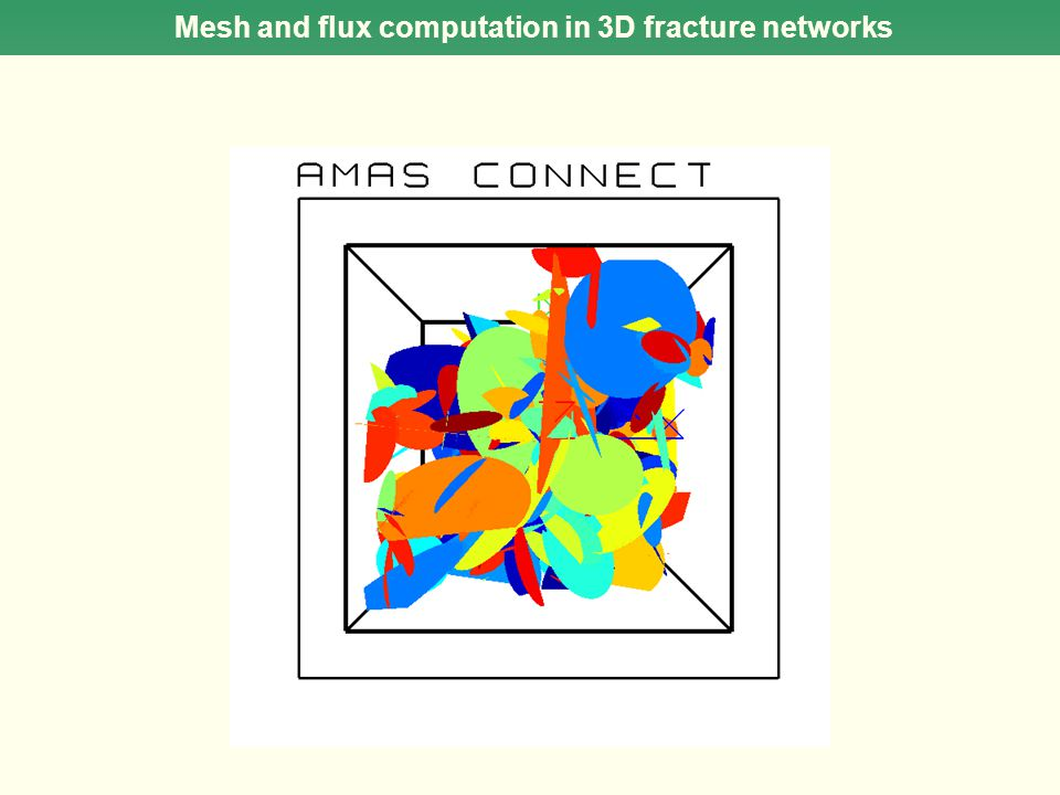 Mesh and flux computation in 3D fracture networks