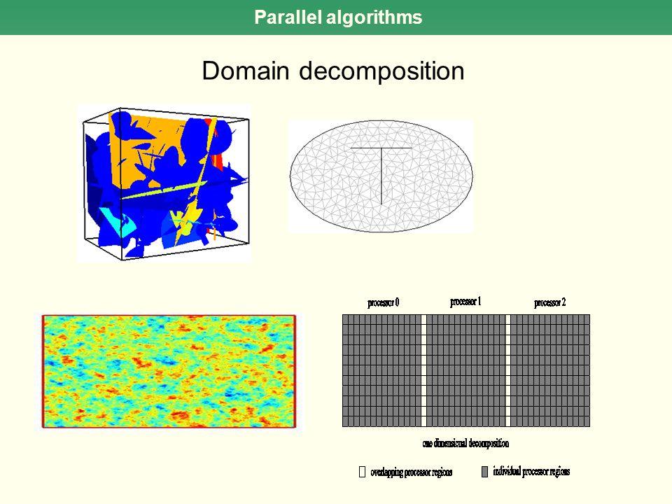 Parallel algorithms Domain decomposition
