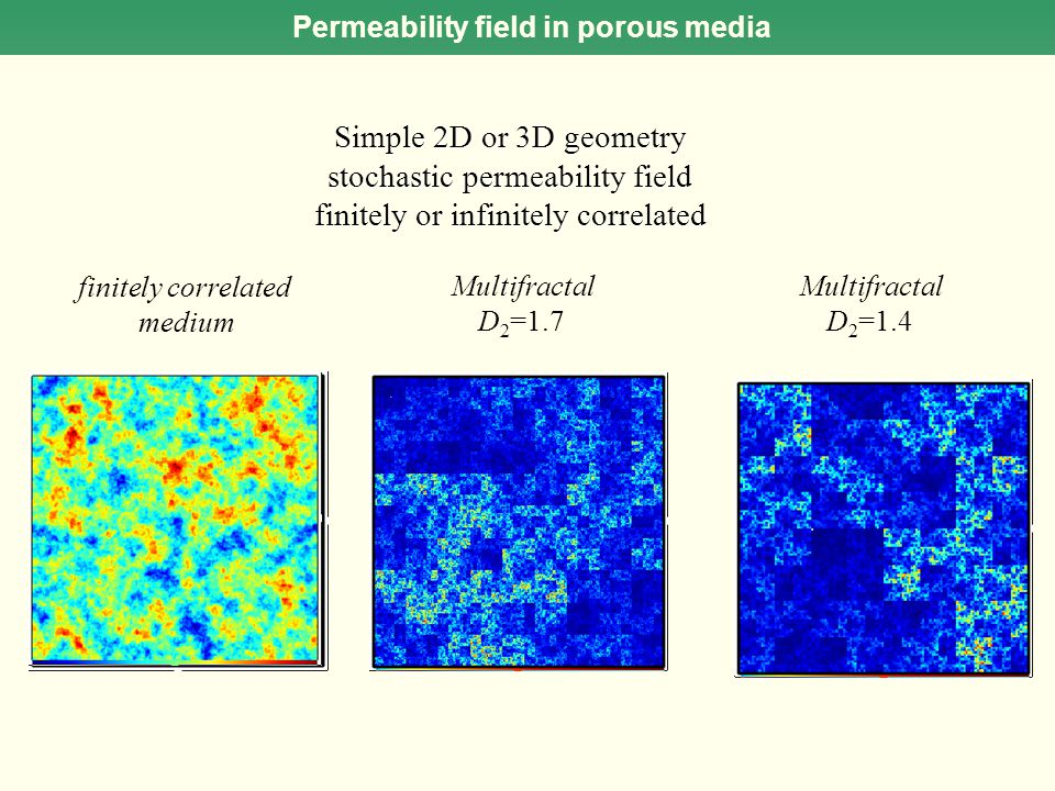 Permeability field in porous media