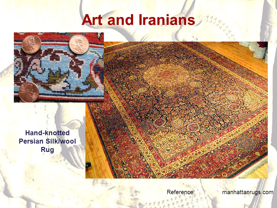 Hand-knotted Persian Silk/wool Rug