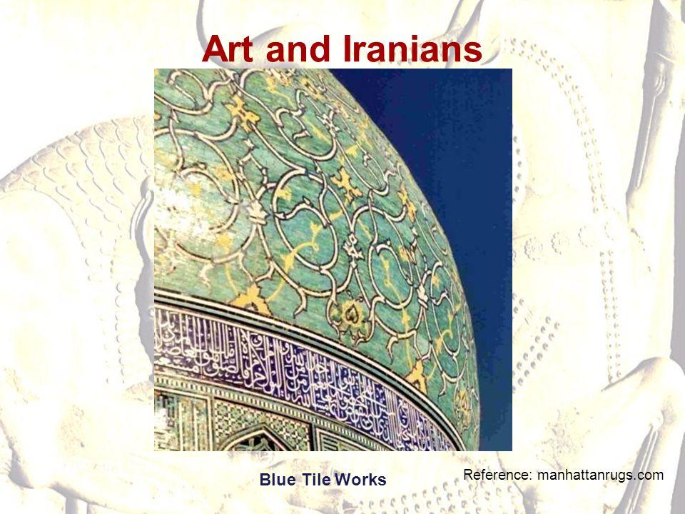 Art and Iranians Blue Tile Works Reference: manhattanrugs.com