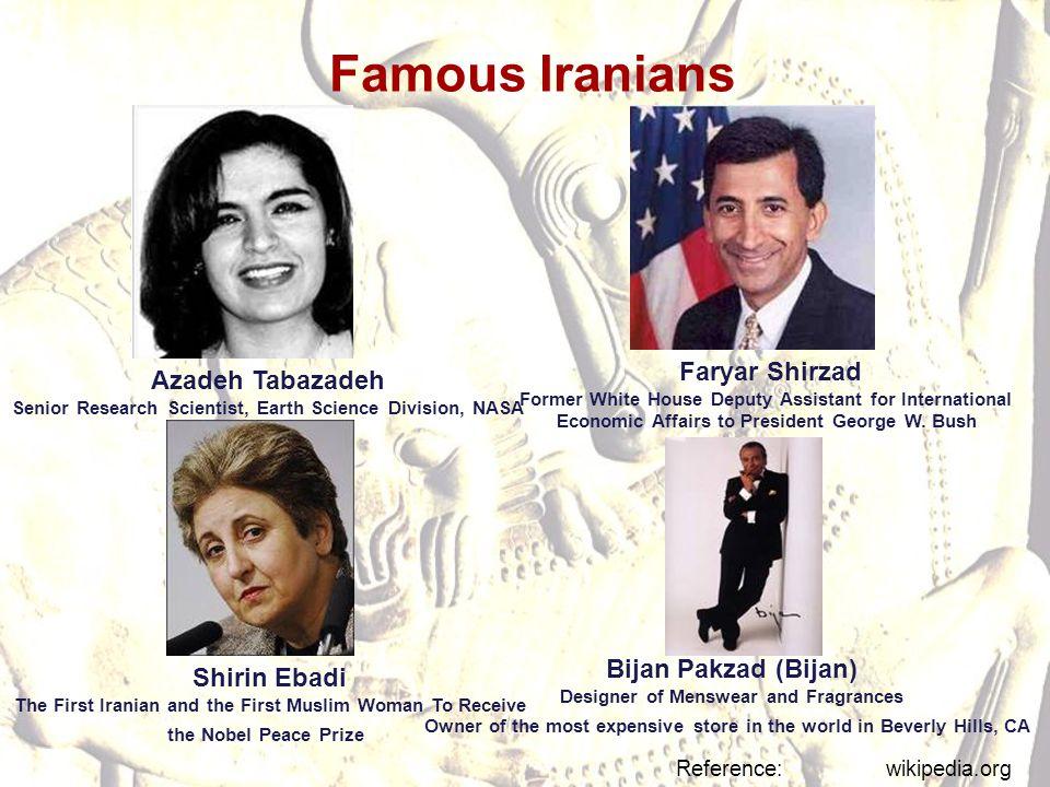 Famous Iranians Faryar Shirzad Azadeh Tabazadeh Bijan Pakzad (Bijan)