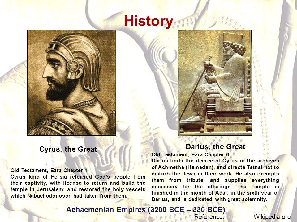 Achaemenian Empires (3200 BCE – 330 BCE)