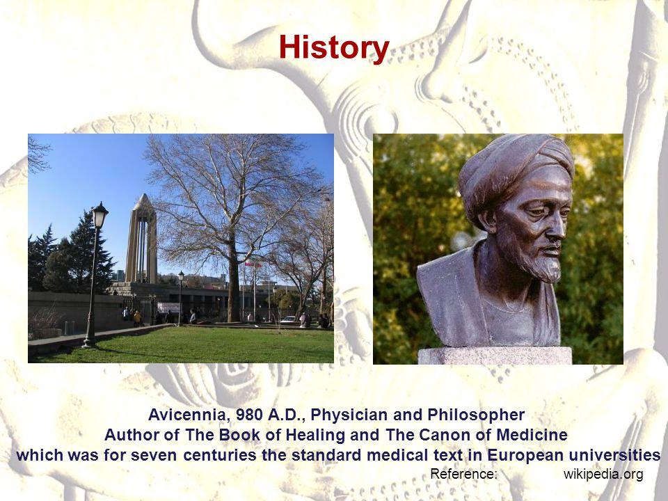 History Avicennia, 980 A.D., Physician and Philosopher