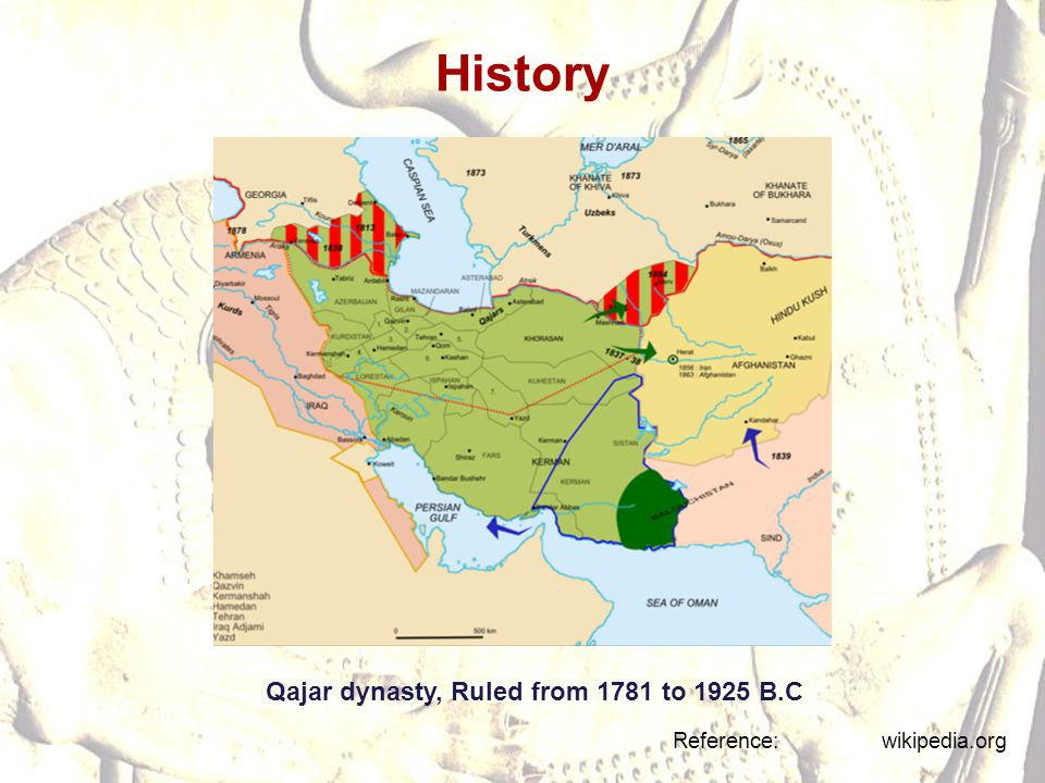 History Qajar dynasty, Ruled from 1781 to 1925 B.C