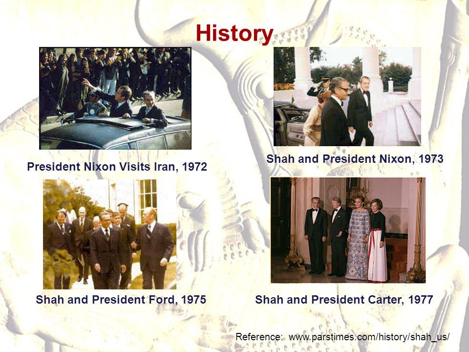 History Shah and President Nixon, 1973