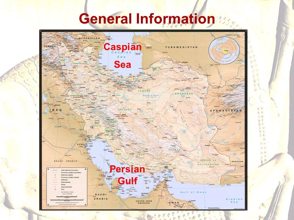 General Information Caspian Sea Persian Gulf