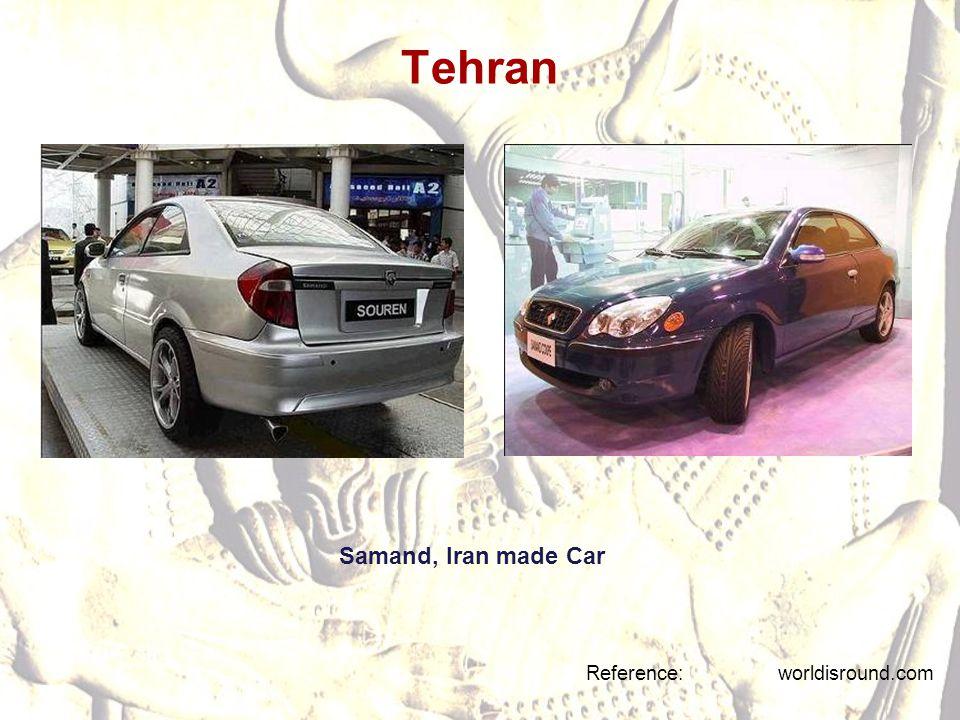 Tehran Samand, Iran made Car Reference: worldisround.com