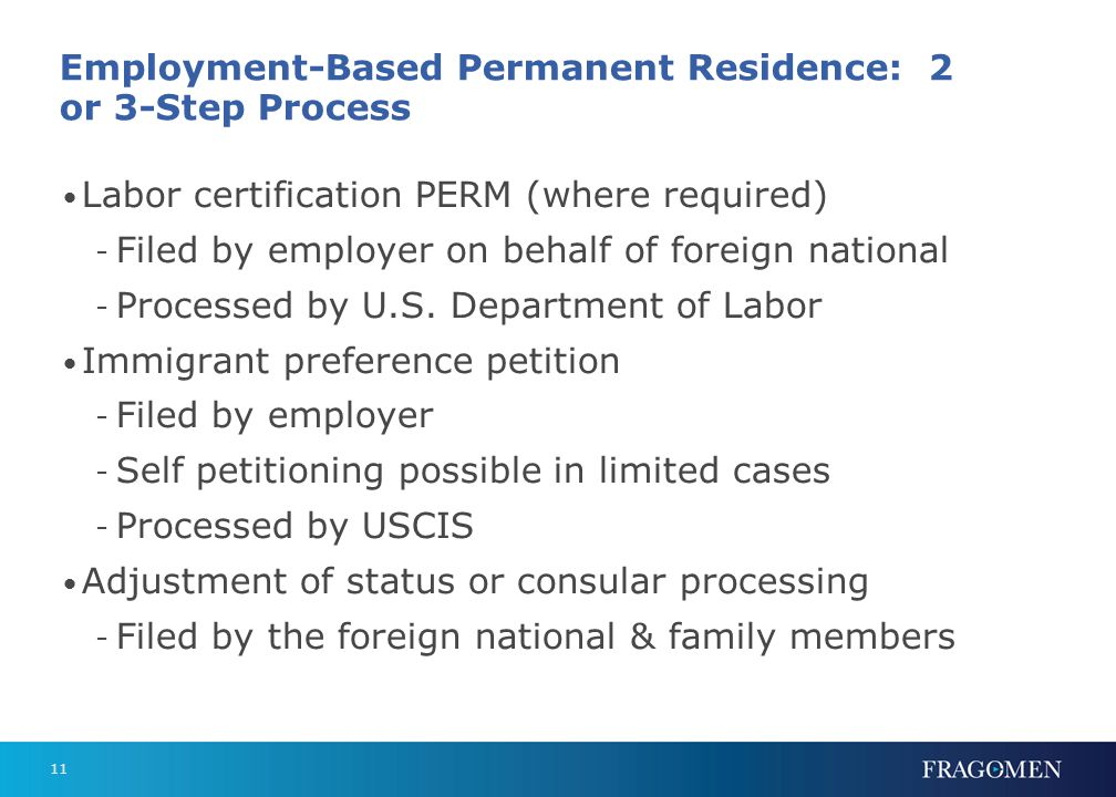 3 Steps to a Green Card Labor certification - PERM