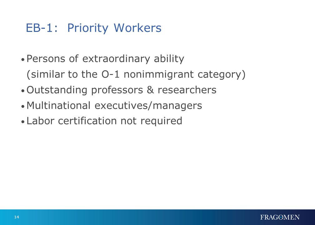EB-2: Advanced-Degree Professionals & Persons of Exceptional Ability