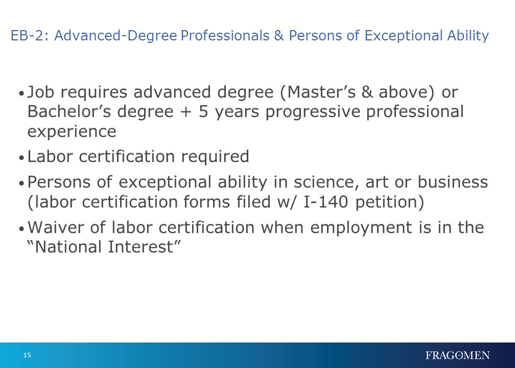 EB-3: Professionals, Skilled Workers, Other Workers