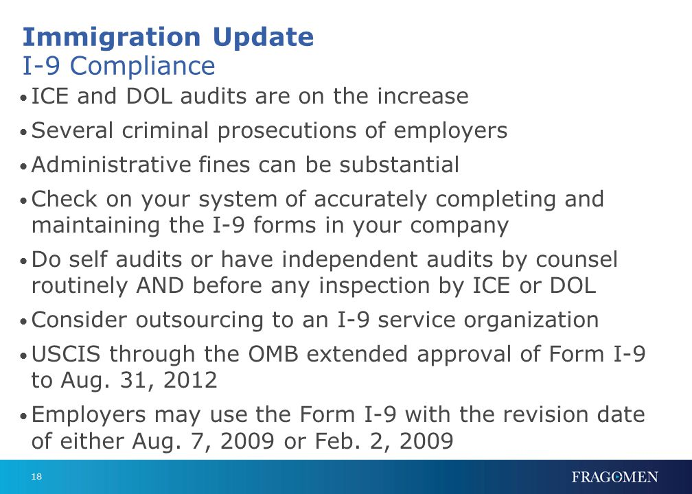 Immigration Update (cont.)