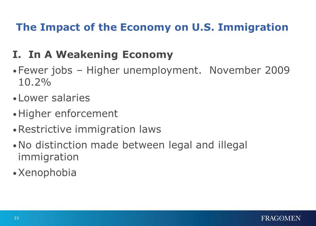 The Impact of the Economy on U.S. Immigration