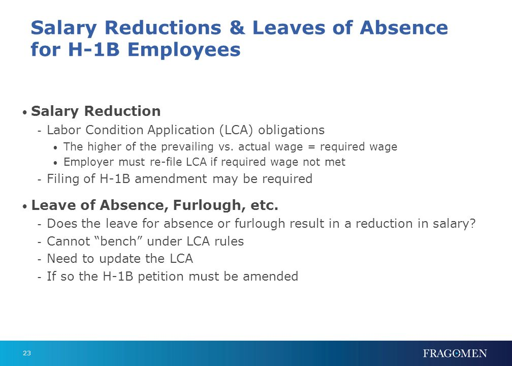 Changes in Job Duties and Employing Legal Entity