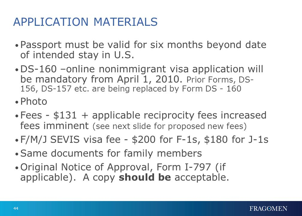 Proposed New Fees to Apply for a Visa in 2010