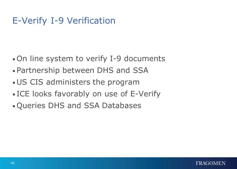 E-Verify Statistics 96% verified to work within minutes