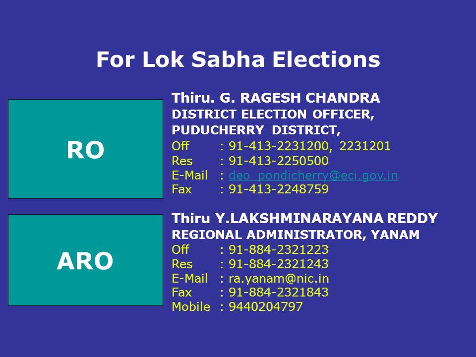 For Lok Sabha Elections