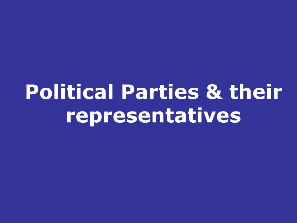Political Parties & their representatives