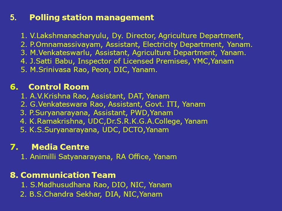 Polling station management