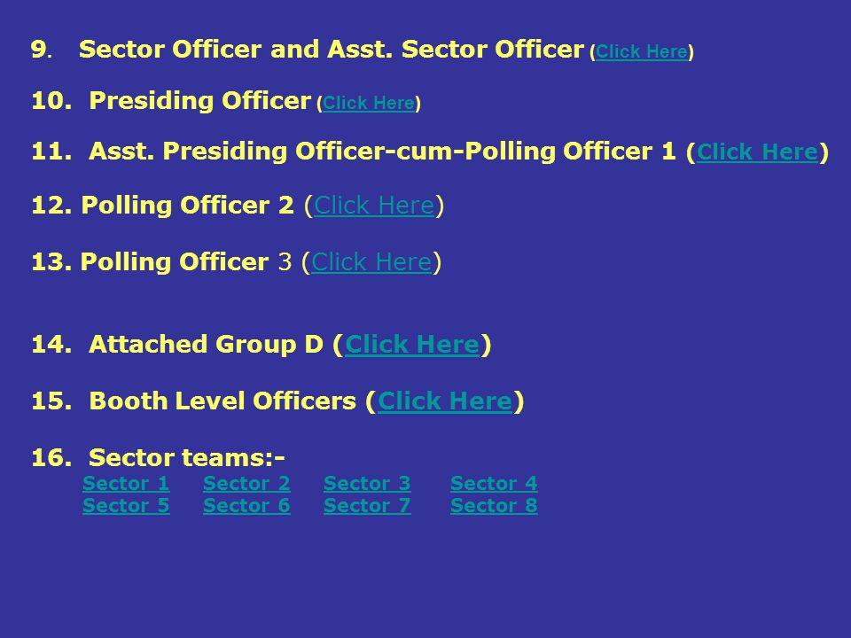 9. Sector Officer and Asst. Sector Officer (Click Here)
