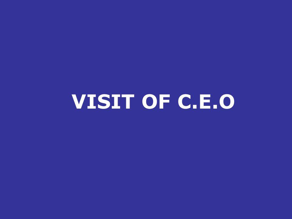 VISIT OF C.E.O