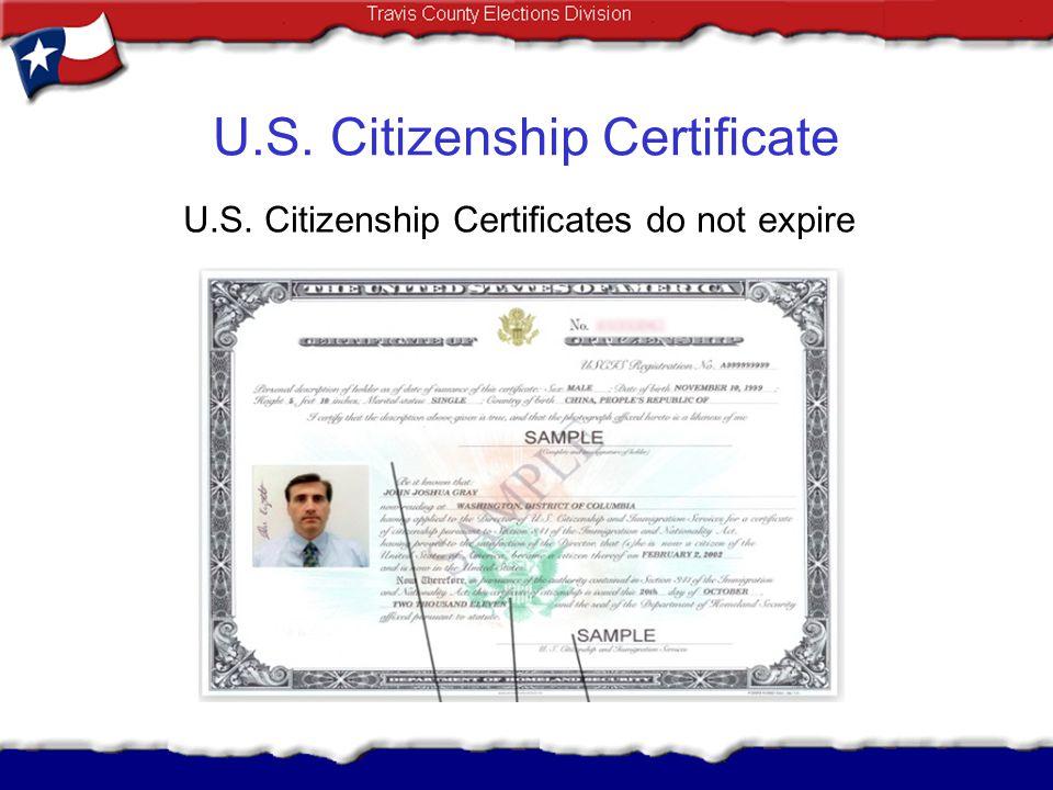 U.S. Citizenship Certificate