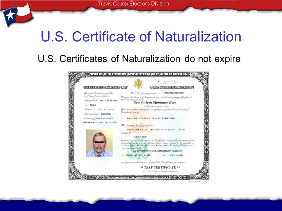U.S. Certificate of Naturalization