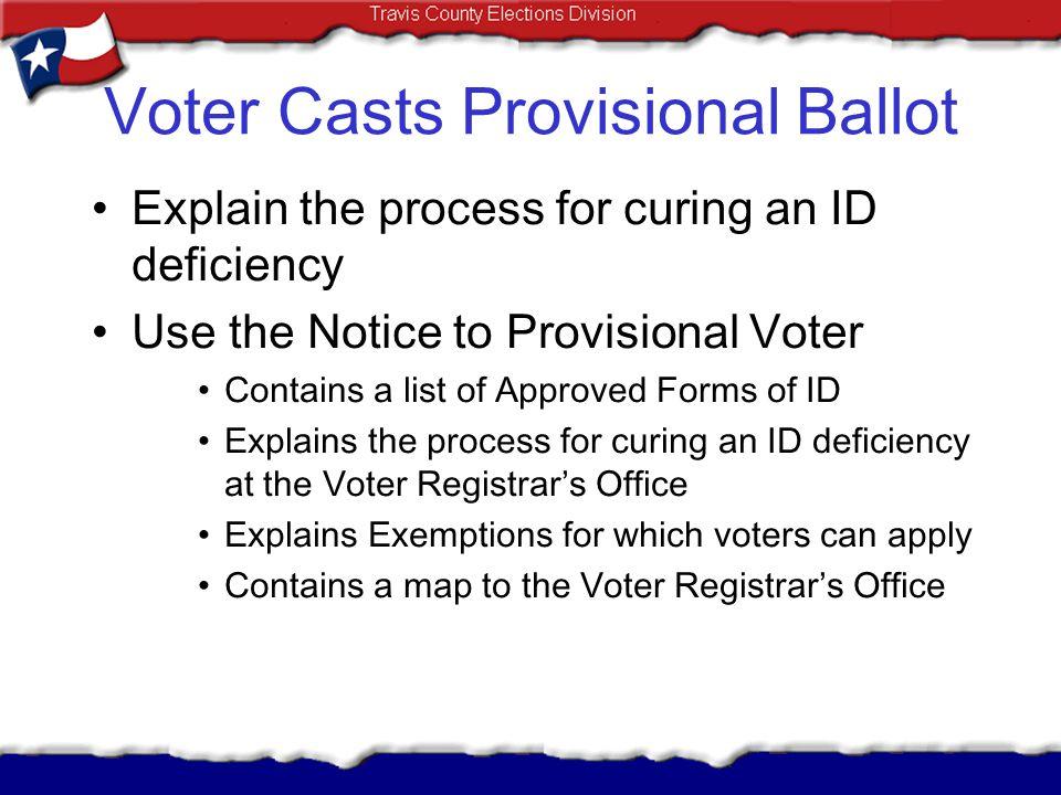 Voter Casts Provisional Ballot