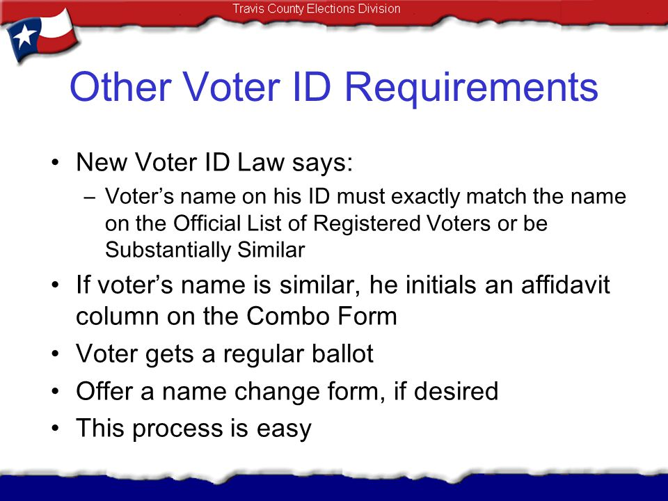 Other Voter ID Requirements