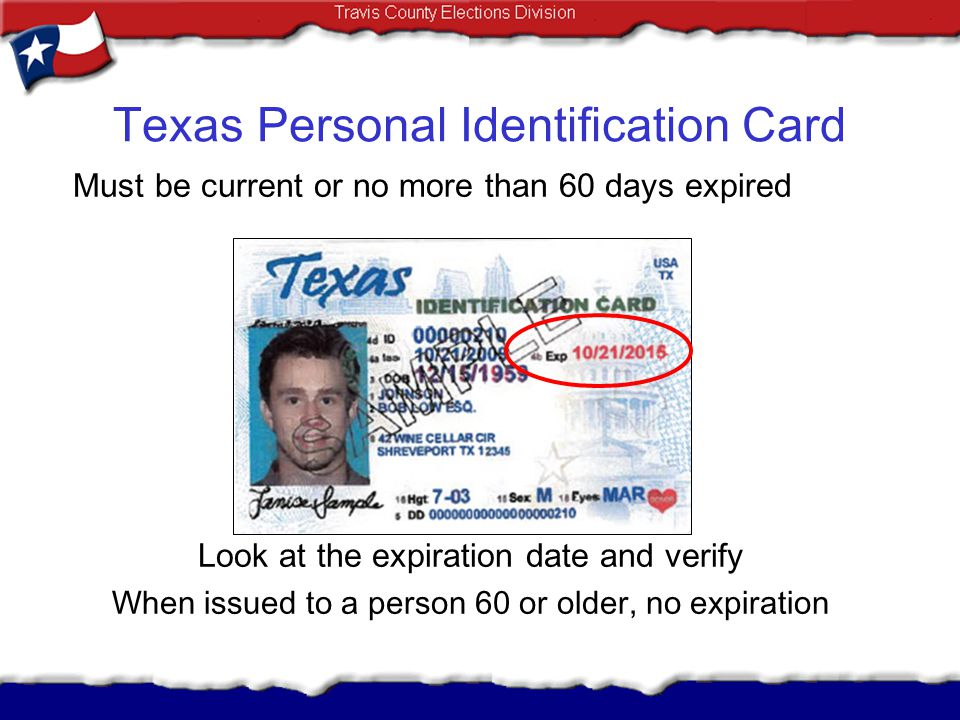 Texas Personal Identification Card