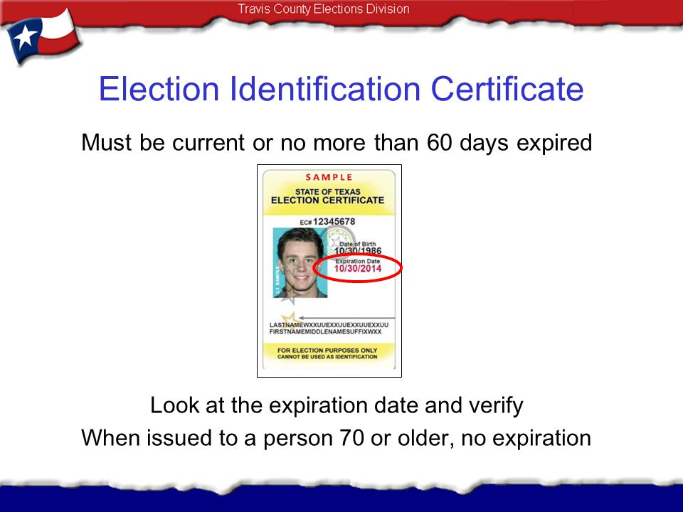 Election Identification Certificate