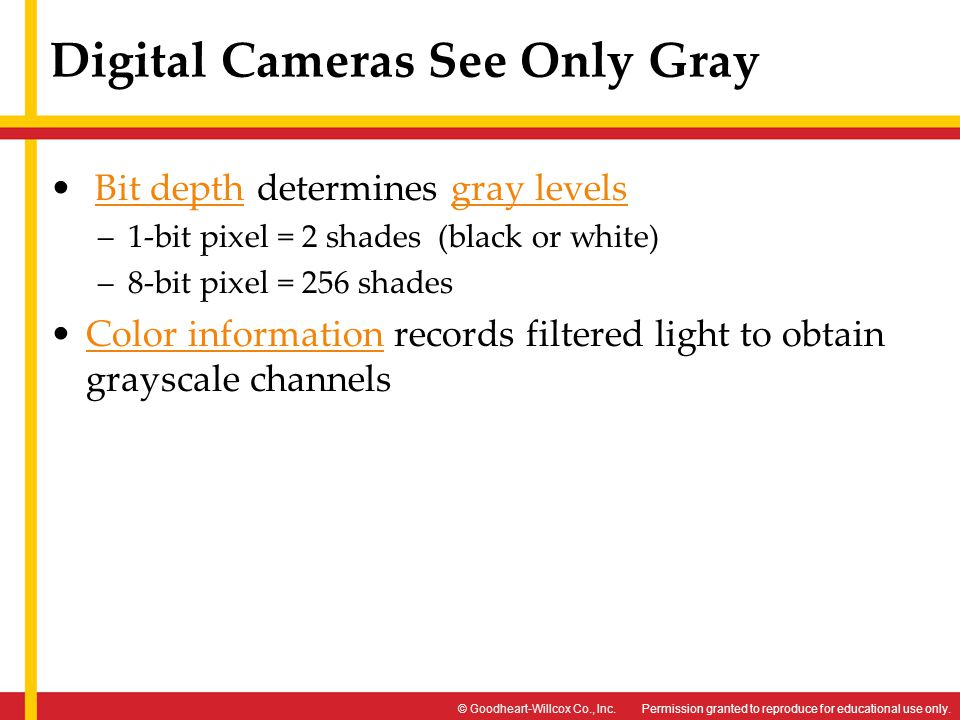Digital Cameras See Only Gray