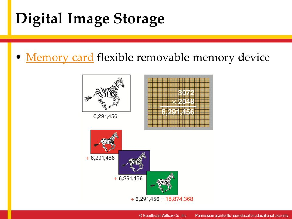 Digital Image Storage Memory card flexible removable memory device