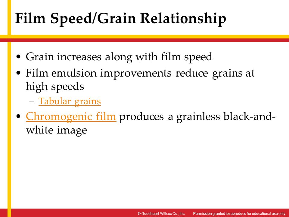 Film Speed/Grain Relationship