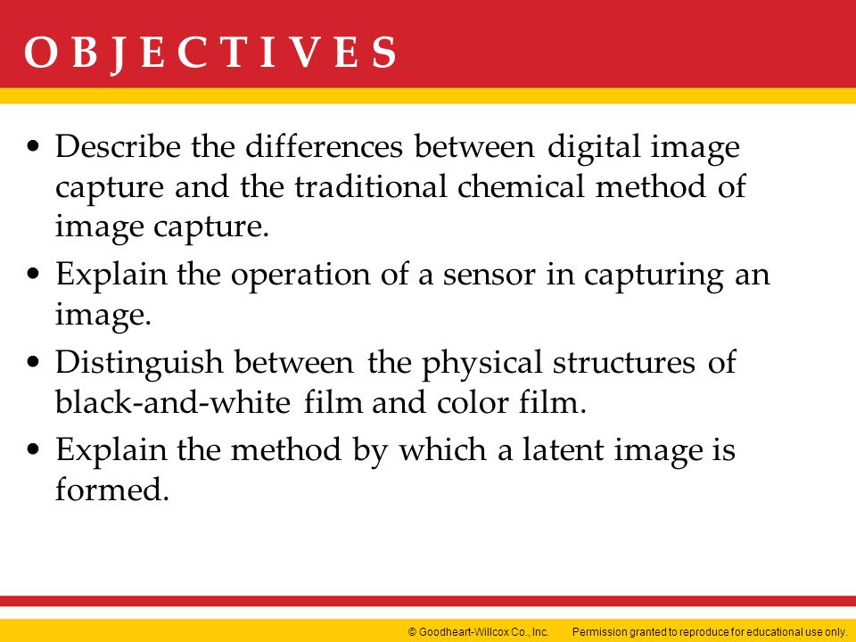 Describe the differences between digital image capture and the traditional chemical method of image capture.